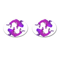 Koi Carp Fish Water Japanese Pond Cufflinks (Oval)