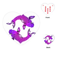 Koi Carp Fish Water Japanese Pond Playing Cards (Heart)