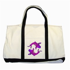 Koi Carp Fish Water Japanese Pond Two Tone Tote Bag