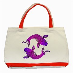 Koi Carp Fish Water Japanese Pond Classic Tote Bag (Red)