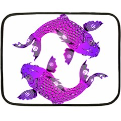 Koi Carp Fish Water Japanese Pond Double Sided Fleece Blanket (Mini)