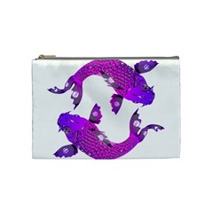 Koi Carp Fish Water Japanese Pond Cosmetic Bag (Medium)