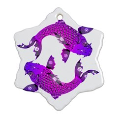 Koi Carp Fish Water Japanese Pond Snowflake Ornament (2-Side)