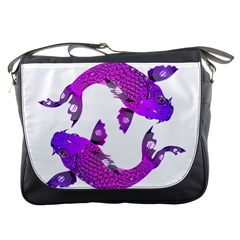 Koi Carp Fish Water Japanese Pond Messenger Bags