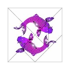 Koi Carp Fish Water Japanese Pond Acrylic Tangram Puzzle (6  x 6 )