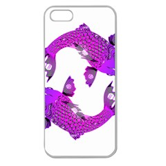 Koi Carp Fish Water Japanese Pond Apple Seamless iPhone 5 Case (Clear)