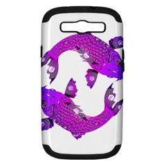 Koi Carp Fish Water Japanese Pond Samsung Galaxy S III Hardshell Case (PC+Silicone)