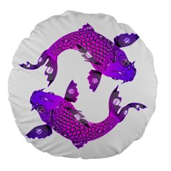 Koi Carp Fish Water Japanese Pond Large 18  Premium Round Cushions