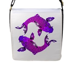 Koi Carp Fish Water Japanese Pond Flap Messenger Bag (L)
