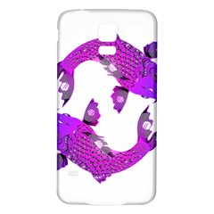 Koi Carp Fish Water Japanese Pond Samsung Galaxy S5 Back Case (White)