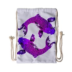 Koi Carp Fish Water Japanese Pond Drawstring Bag (Small)