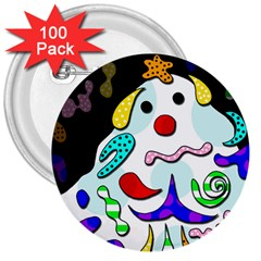 Candy man` 3  Buttons (100 pack)