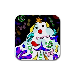Candy man` Rubber Square Coaster (4 pack)