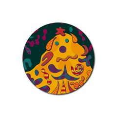 Candy man 2 Rubber Coaster (Round)
