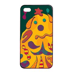 Candy man 2 Apple iPhone 4/4s Seamless Case (Black)