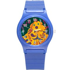 Candy man 2 Round Plastic Sport Watch (S)