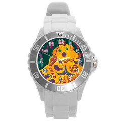 Candy man 2 Round Plastic Sport Watch (L)
