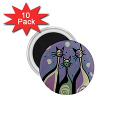Cats 1.75  Magnets (10 pack)