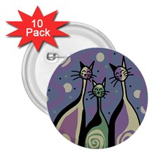 Cats 2.25  Buttons (10 pack)