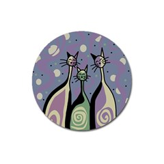 Cats Magnet 3  (Round)