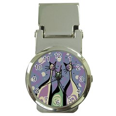 Cats Money Clip Watches