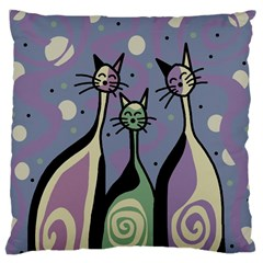 Cats Large Cushion Case (Two Sides)