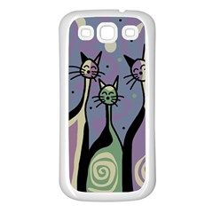Cats Samsung Galaxy S3 Back Case (White)