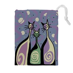 Cats Drawstring Pouches (Extra Large)