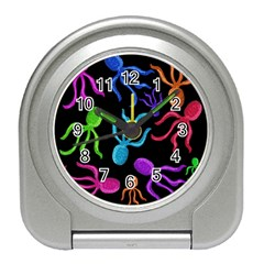 Colorful octopuses pattern Travel Alarm Clocks