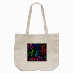 Colorful octopuses pattern Tote Bag (Cream)
