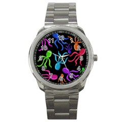 Colorful octopuses pattern Sport Metal Watch
