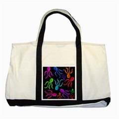 Colorful octopuses pattern Two Tone Tote Bag