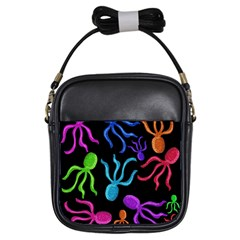 Colorful octopuses pattern Girls Sling Bags
