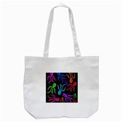 Colorful octopuses pattern Tote Bag (White)