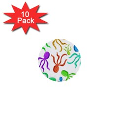 Octopuses pattern 1  Mini Buttons (10 pack)