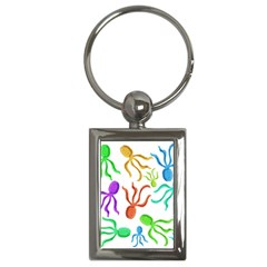 Octopuses pattern Key Chains (Rectangle)
