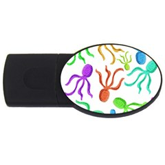 Octopuses pattern USB Flash Drive Oval (4 GB)