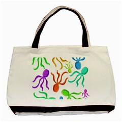 Octopuses pattern Basic Tote Bag (Two Sides)