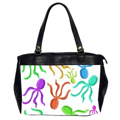 Octopuses pattern Office Handbags (2 Sides)