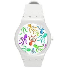 Octopuses pattern Round Plastic Sport Watch (M)
