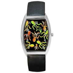 Octopuses pattern 2 Barrel Style Metal Watch