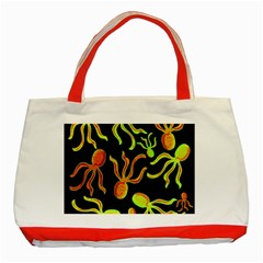 Octopuses pattern 2 Classic Tote Bag (Red)