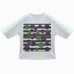 Purple and green elegant pattern Infant/Toddler T-Shirts