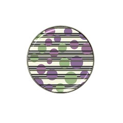 Purple and green elegant pattern Hat Clip Ball Marker (4 pack)