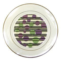Purple and green elegant pattern Porcelain Plates