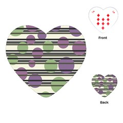 Purple and green elegant pattern Playing Cards (Heart)