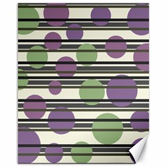 Purple and green elegant pattern Canvas 16  x 20