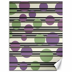 Purple and green elegant pattern Canvas 18  x 24