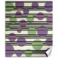 Purple and green elegant pattern Canvas 20  x 24