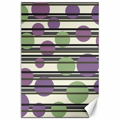 Purple and green elegant pattern Canvas 24  x 36